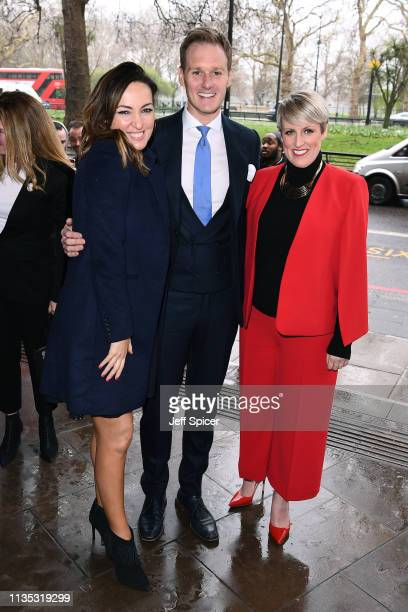 Sally Nugent Dan Walker and Steph McGovern attend the 2019 'TRIC Awards' held at The Grosvenor House Hotel on March 12 2019 in London England