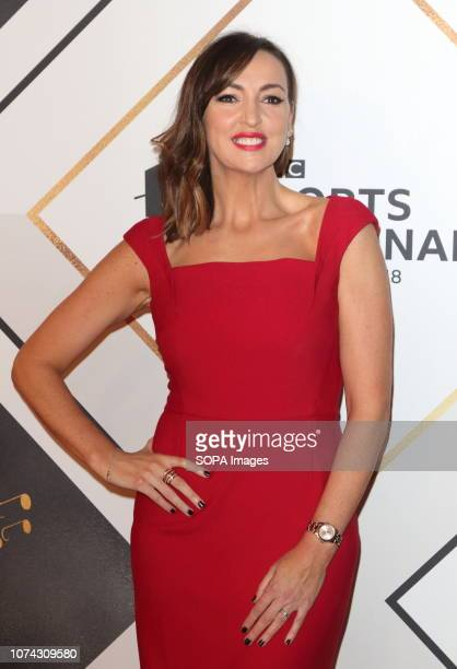 Sally Nugent on the red carpet at the BBC Sports Personality Of The Year 2018 at the Resorts World Arena