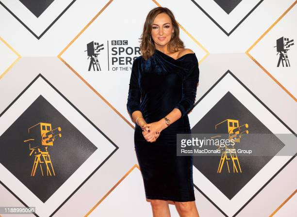 Sally Nugent on the red carpet at the BBC Sports Personality of the Year Awards, at the P&J Live arena on December 15 in Aberdeen, Scotland.