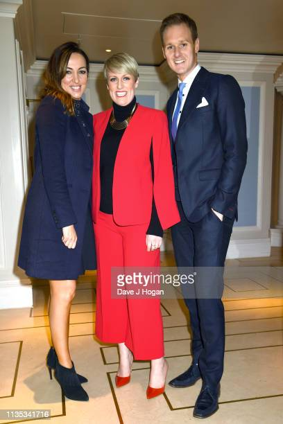 Sally Nugent Stephanie McGovern and Dan Walker attend the 2019 'TRIC Awards' held at The Grosvenor House Hotel on March 12 2019 in London England