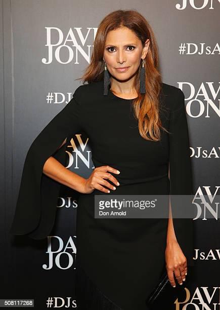 Sally Obermeder arrives ahead of the David Jones Autumn/Winter 2016 Fashion Launch at David Jones Elizabeth Street Store on February 3 2016 in Sydney...