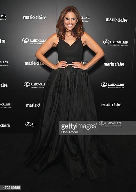 Sally Obermeder arrives at the 2015 Prix de Marie Claire Awards at Fox Studios on April 21 2015 in Sydney Australia