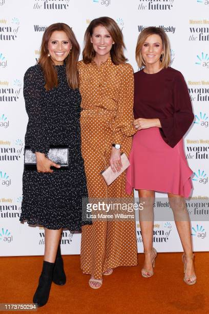 Sally Obermeder Natalie Barr and Kylie Gillies attend the Women of The Future Awards on September 11 2019 in Sydney Australia