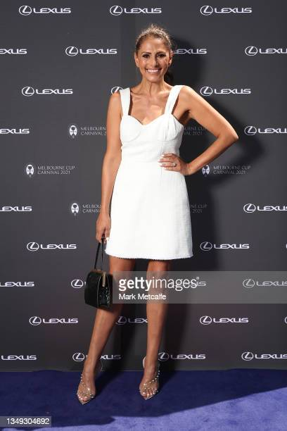 Sally Obermederattends a Melbourne Cup media call on October 27, 2021 in Sydney, Australia.
