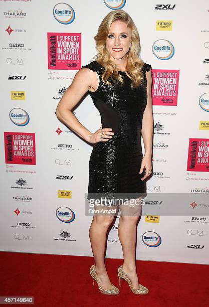 Sally Pearson attends the Women's Health 'I Support Women In Sport' Awards at The Establishment on October 13 2014 in Sydney Australia