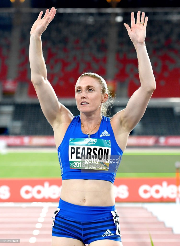 Sally Pearson celebrates after winning the final of the Women's 100m hurdle event during the Australian Athletics Championships & Nomination Trials at Carrara Stadium on February 17, 2018 in Gold Coast, Australia.