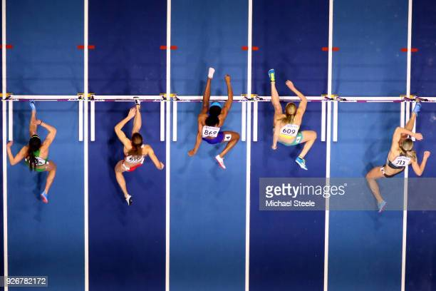 Sally Pearson of Australia competes in the 60 Metres Hurdles Women SemiFinal Heat 2 during the IAAF World Indoor Championships on Day Three at Arena...