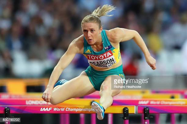 Sally Pearson of Australia competes in the Women's 100 metres hurdles final during day nine of the 16th IAAF World Athletics Championships London...