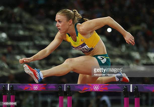 Sally Pearson of Australia competes in the Women's 100m Hurdles Final on Day 11 of the London 2012 Olympic Games at Olympic Stadium on August 7 2012...