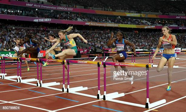 Sally Pearson of Australia leads in the Women's 100 metres hurdles final during day nine of the 16th IAAF World Athletics Championships London 2017...