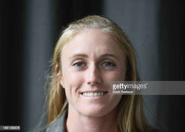 Sally Pearson of Australia poses during the John Landy Lunch on April 5 2013 in Melbourne Australia