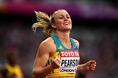 london england sally pearson australia reacts
