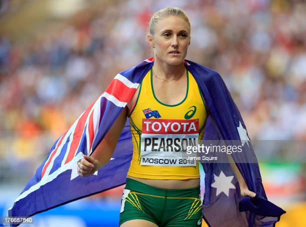 Sally Pearson of Australia wins silver in the Women's 100 metres hurdles final during Day Eight of the 14th IAAF World Athletics Championships Moscow...