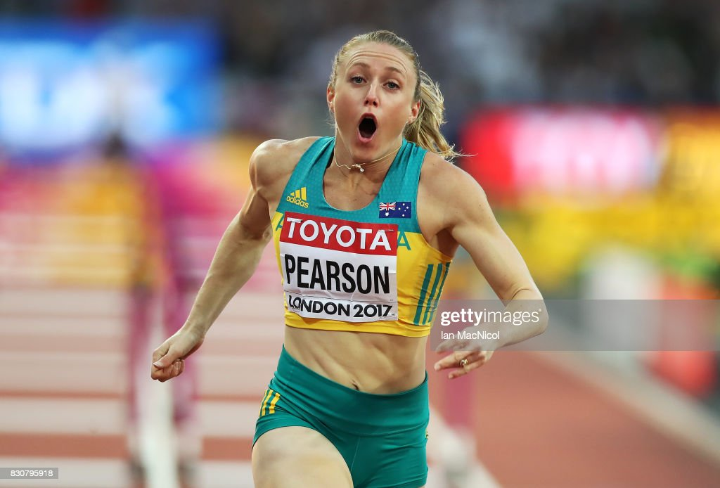 Sally Pearson of Australia wins the Women's 100m Hurdle final during day nine of the 16th IAAF World Athletics Championships London 2017 at The London Stadium on August 12, 2017 in London, United Kingdom.