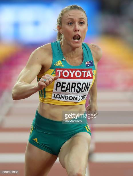Sally Pearson of Australia wins the Women's 100m Hurdle final during day nine of the 16th IAAF World Athletics Championships London 2017 at The...
