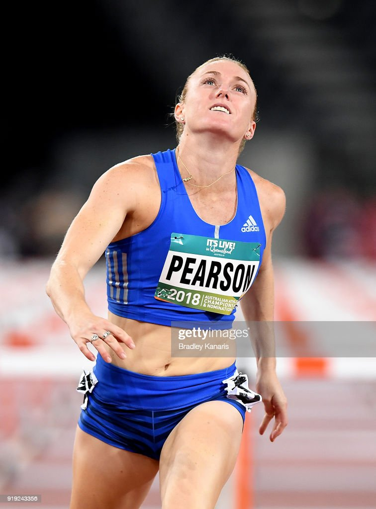 Sally Pearson wins the final of the Women's 100m hurdle event during the Australian Athletics Championships & Nomination Trials at Carrara Stadium on February 17, 2018 in Gold Coast, Australia.