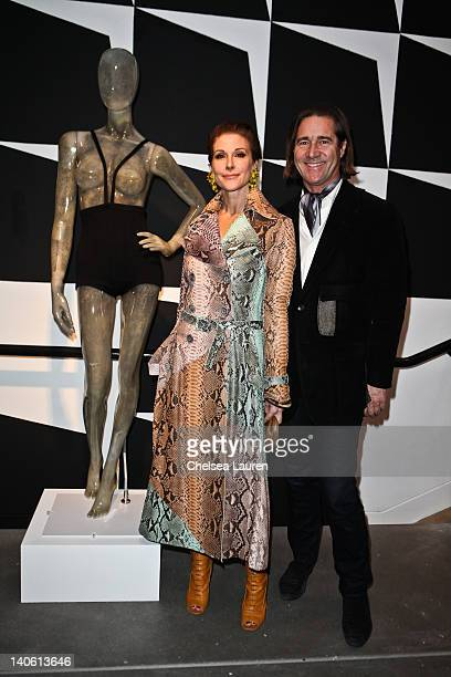 "Sally Perrin and Michel Perrin attend the MOCA Leadership Circle reception and members' opening for ""The Total Look: The Creative Collaboration..."