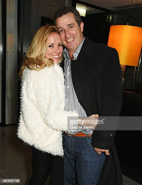 Sally Phillips and Andrew Bermejo attend the after party for 'Burn Burn Burn' at the Mondrian London on October 15 2015 in London England