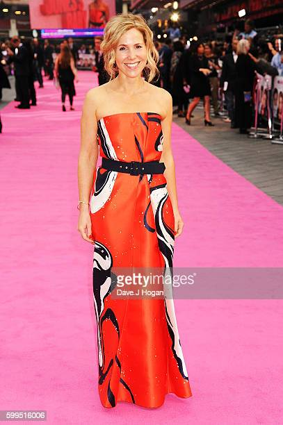 """Sally Phillips arrives for the world premiere of """"Bridget Jones's Baby"""" at Odeon Leicester Square on September 5, 2016 in London, England."""