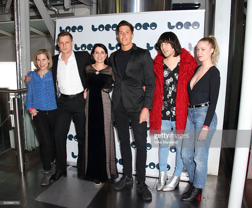 Sally Phillips, Max Bennett, Sadie Frost, Ben Charles, Noel Fielding and Lily Loveless attend the UK film premiere of 'Set The Thames On Fire' - on April 21, 2016 in London, United Kingdom.