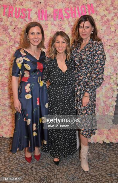 Sally Phillips Rachel Stevens and Ronni Ancona attend the Rainbow Trust Children's Charity's annual 'Trust In Fashion' fundraiser at The Grosvenor...