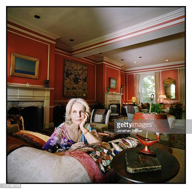Sally Quinn is photographed at home for Vanity Fair Magazine on May 10 2010 in Washington DC Published image
