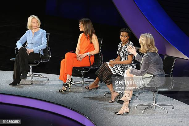 Sally Quinn Susannah Grant Kerry Washington and Cynthia McFadden speak onstage at The Lasting Impact of Anita Hill during Tina Brown's 7th Annual...