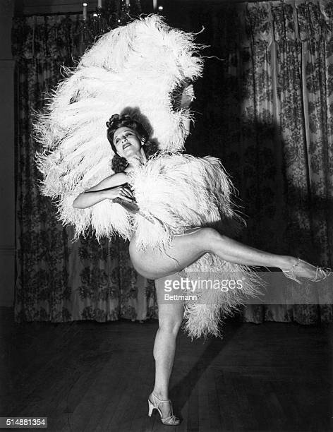 Sally Rand in her famous fan dance Undated photograph