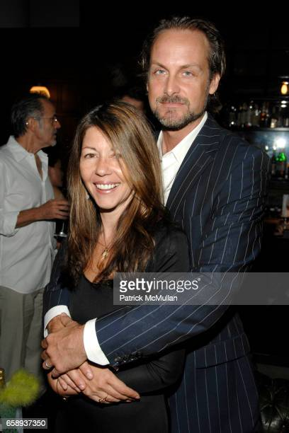 Sally Randall Brunger and Andrew Brunger attend Cocktails to Celebrate Sally Randall Brunger's 50th Birthday at The Ace Hotel on August 27 2009 in...