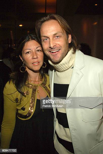 Sally Randall Brunger and Andrew Brunger attend W Hotels Celebrates the Release of Patrick McMullan's New Calendar at W Hotel on January 24 2007 in...