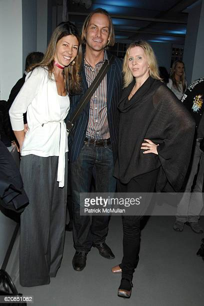 Sally Randall Brunger Andrew Brunger and Victoria Bartlett attend SWAROVSKI Cocktail Party to announce the Nominees Honorees of the 2008 CFDA FASHION...