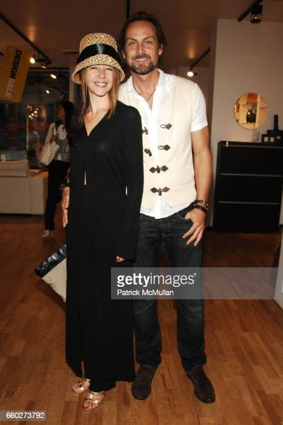 Sally RandallBrunger and Andrew Brunger attend PATRICK MCMULLAN COMPANY GROUP SHOW with Cocktails Provided by SOLERNO Blood Orange Liqueur at Bo...