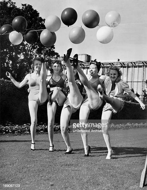 Sally Rand's dude ranch entertainers at the 193940 Golden Gate International Exposition on Treasure Island San Francisco California 1939