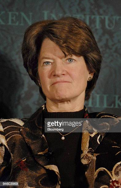 Sally Ride former NASA astronaut and president and chief executive officer of Sally Ride Science speaks at the Milken Institute Global Conference in...