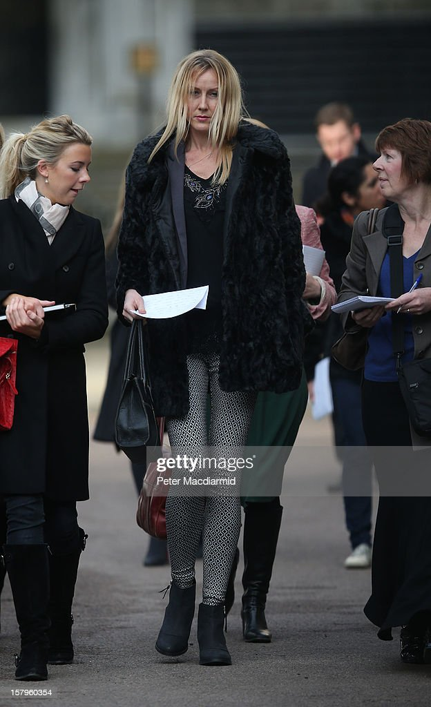 Sally Roberts, mother of Neon Roberts leaves The High Court on December 8, 2012 in London, England. A judge will make a ruling on whether a local health authority should give Sally Roberts's seven-year-old son, who has a brain tumour, cancer treatment against her wishes.