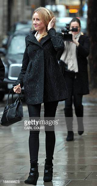 Sally Roberts the mother of sevenyearold cancer patient Neon arrives at the High Court in central London on December 20 2012 for a hearing in the...