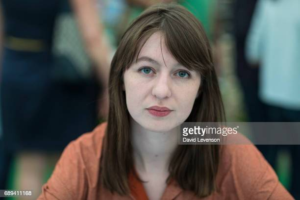 Sally Rooney novelist at the Hay Festival on May 28 2017 in Hay on Wye United Kingdom