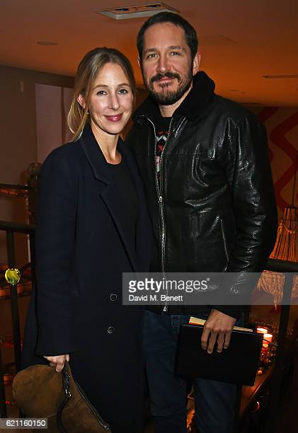 Sally Scott and Bertie Carvel attend the press night after party celebrating The Old Vic's production of King Lear at the Ham Yard Hotel on November...