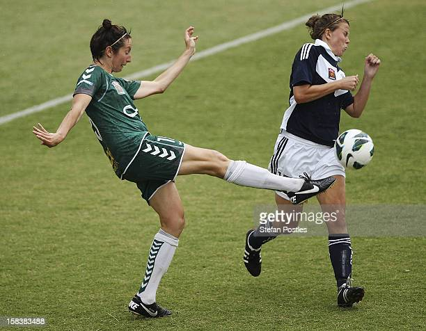 Sally Shipard of Canberra United in action during the round nine W-League match between Canberra United and the Melbourne Victory at McKellar Park on...