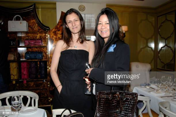 Sally Singer and Helen Lee Schifter attend Loewe 35th Anniversary luncheon hosted by Filipa Fino and Linda Fargo at Bergdorf Goodman on April 29,...
