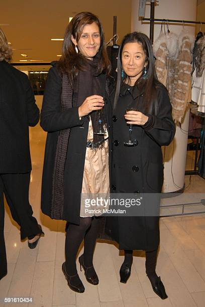 Sally Singer and Vera Wang attend Candy Pratts Price party for Manolo Blahnik and Eric Boman and their new book BLAHNIK BY BOMAN at Barneys on...
