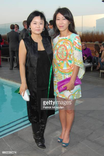 Sally Sohn and Lisa Cheng attend GILT GROUPE LA Cocktail Party at Thompson Hotel Rooftop Bar on June 18 2009 in Beverly Hills California