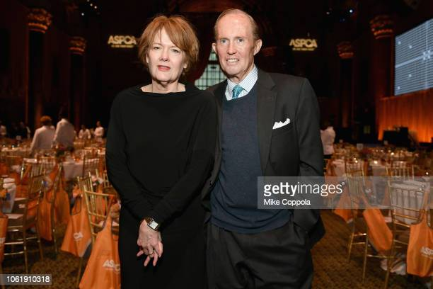 Sally Spooner and Mark Gilbertson attend the ASPCA Hosts 2018 Humane Awards Luncheon at Cipriani 42nd Street on November 15 2018 in New York City