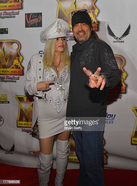 Sally Steele and television personality Danny 'The Count' Koker arrive at the Vegas Rocks Magazine Music Awards 2013 at the Joint inside the Hard...