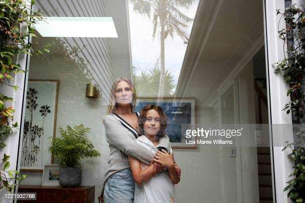 Sally Stokes owner of event construction company Bestoked isolates at home with her son Archie Stokes on April 29 2020 in Sydney Australia Our...