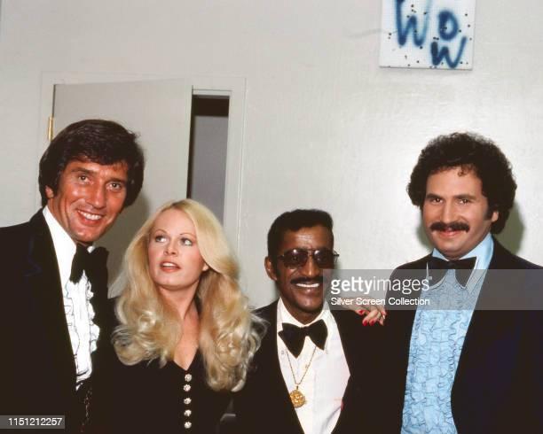 Sally Struthers Sammy Davis Jr and Gabe Kaplan circa 1976