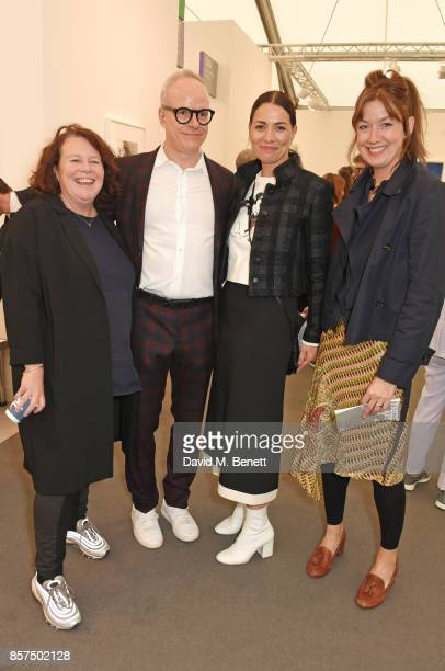Sally Tallant HansUlrich Obrist Yana Peel and Rose Dempsey attend the Frieze Art Fair 2017 VIP Preview in Regent's Park on October 4 2017 in London...