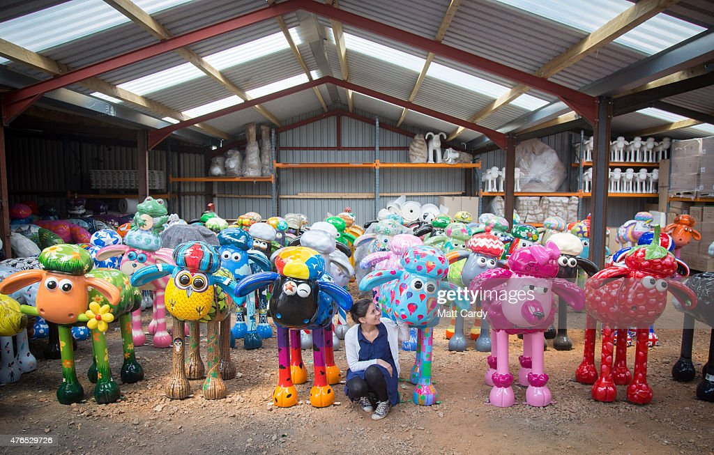 Final Preparations For The Shaun The Sheep City Trail : News Photo