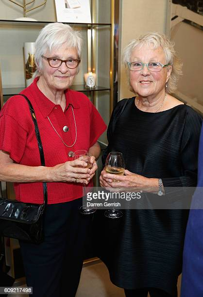 Sally Tuffin and Marion Foale attend Vogue Voice of a Century book launch at Matches Fashion on September 20, 2016 in London, England.