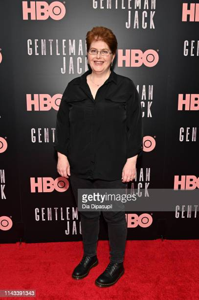 Sally Wainwright attends the Gentleman Jack New York premiere at Metrograph on April 17 2019 in New York City